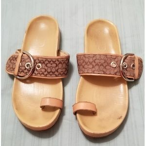 Coach Mini C Toe Ring Sandals Slide 6